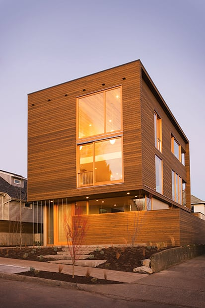 new construction, modern style exterior